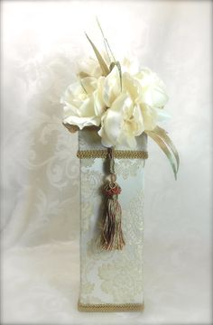 Decorated Wine Gift Box Gift Boxes Christmas by WrapsodyandInk, $29.00