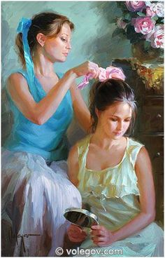 SISTERS, painting,