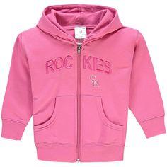 Colorado Rockies Soft as a Grape Girls Toddler Long Sleeve Full-Zip Hoodie - Pink - $20.99
