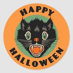 Retro Halloween, Halloween Pictures, Scary Halloween, Happy Halloween, Halloween Ideas, Halloween Halloween, Halloween Labels, Vintage Halloween Cards, Halloween Printable