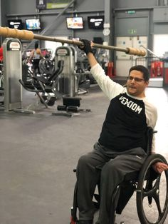 Paralyzed for 21 years, Nige Barber from Devon, UK has had his ups and downs, but the last 12 years have been more ups thanks to discovering adaptive CrossFit and getting married. Read his guest post for our blog in which he shares how he's currently living his best life. #lifeafterSCI #quadriplegia Quadriplegic, Leaving School, Local Gym, Devon Uk, Suffering In Silence, Royal Marines, Someone New, Ups And Downs, Over Dose