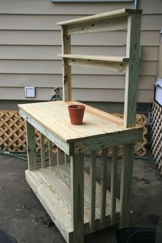 potting bench patterns | potting bench -
