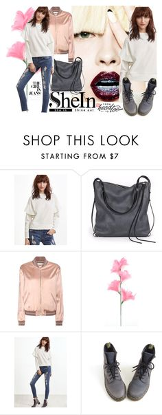 """""""SheIn"""" by elza-345 ❤ liked on Polyvore featuring Ina Kent, Yves Saint Laurent and Dr. Martens"""
