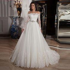 Aliexpress.com: Compre Romântico Vestido De Novia islâmico vestidos com mangas…