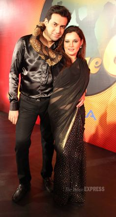 Kanika Maheshwari strikes a pose along with her husband Ankur Ghai at the season launch of 'Nach Baliye - 6' #Bollywood #Fashion #Style #Beauty