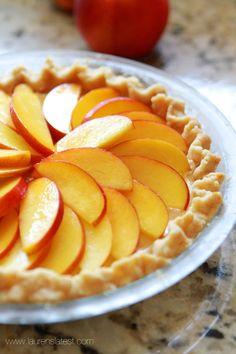 Fresh Peaches and Cream Pie