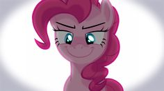 Pinkie Pie's face. Oh man, that's scary.