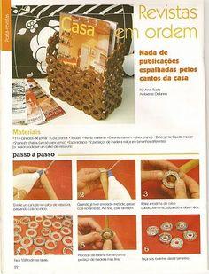 Artesanato diversão e prazer: Reciclagem com jornal