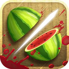 Fruit Ninja You are a sensai in training. Fruits fly up and you slice them with your finger. Very addicting.