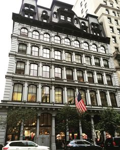The Arnold Constable building on Fifth Avenue is one of my favorite buildings in New York. The seven-story building occupies half of a city block stretching from Broadway to Fifth Ave. And who doesn't love that stunning two-story mansard roof? - @kjhower1 by savingplaces
