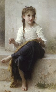 Sewing, William Adolphe Bouguereau