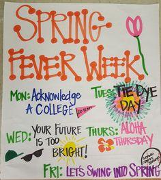 Activities For Seniors Caregiver Spirt Week Ideas, Spirit Week Themes, Spirit Day Ideas, College Event Ideas, Homecoming Poster Ideas, Student Council Activities, Student Gov, School Spirit Days, Homecoming Spirit Week