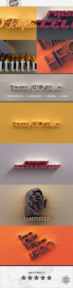 3D Photoshop Template 3