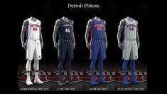 Detroit Pistons uniform set, 2017-18