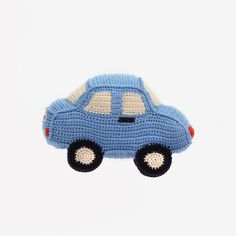 Anne-Claire Petit creations are hand-crocheted from 100% organic cotton yarns, in a sweet minimalist style. A big fun car for putzing about the toy room or as a