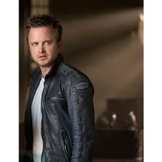 Need For Speed (Aaron Paul) Tobey Marshall Leather Jacket Ravenclaw, Need For Speed Movie, Hogwarts, Leather Men, Leather Jacket, Aaron Paul, American Actors, Boys, Girls