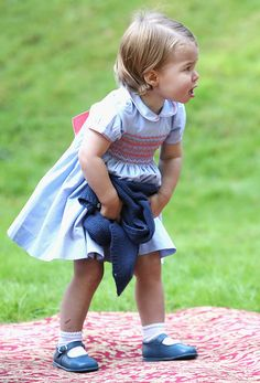 Princess Charlotte of Cambridge at a children's party for Military families during the Royal Tour of Canada on September 29 2016 in Victoria Canada...