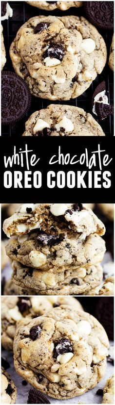 White Chocolate Oreo Cookies - These soft and chewy cookies are loaded with Oreos and white chocolate! The best cookies EVER!