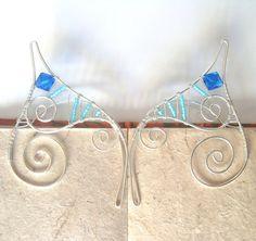 Handmade Ear Cuffs Elf Ear Cuffs Blue & Turquoise by 29Moonbeams