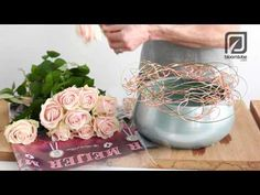 Flower arrangement with Rosa Sweet Avalanche. Bloomtube DIY - YouTube