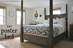 This poster bed is the real deal, strong and sturdy and clearly a statement piece. [media_id:3054114] We live in a 1740 saltbox farmhouse so naturally I want th…