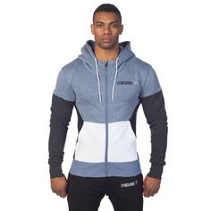 GymShark Fit Frontier Thermal Hoodie - Blue All men's wear | GymShark International | Be a visionary.