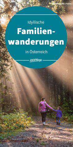 Der Sommer steht bevor und somit geht die Wandersaison endlich wieder los. Höchste Zeit also, eure Familie und den Wanderrucksack zu schnappen und die verstaubten Wanderschuhe endlich aus der untersten Lade des Schuhschranks rauszuholen, wartet doch die Österreichische Natur- und Berglandschaft mit so vielen wunderbaren Wanderpfaden auf euch! To Dos, Desktop Screenshot, Mountain Landscape, Families, Road Trip Destinations, Summer, Nature
