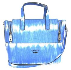 Women's Top-Handle Handbags - Guess Doheny TieDye Convertible Satchel Bag Ocean -- Click on the image for additional details.