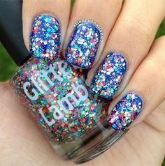 milky glitter nail polish - Google Search