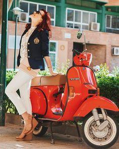 Vespa, Motorcycle, Model, Instagram, Girls, Photos, Wasp, Toddler Girls, Hornet