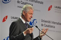 Yesterday, President Bill Clinton addresses students and local leaders from Université Internationale de Casablanca on the occasion of the announcement of the university's new campus.   As Honorary Chancellor, #PresidentClinton advises Laureate on social responsibility, youth leadership and increasing access to higher education. He took questions from students in the audience and spoke about  global interdependence and the uniqueness of the Laureate network.   #LaureateIU  #Clinton