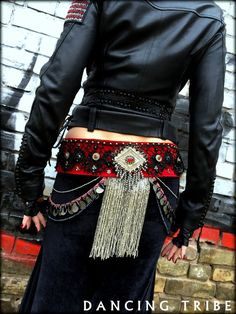 Tribal Fusion Belly Dance Belt Dark Fusion Gothic by DancingTribe