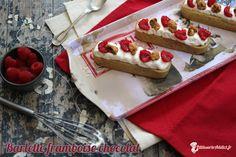 Mi-éclair et mi-tarte aux fruits, la barlette est la nouvelle pâtisserie imaginée par le chef Christophe Adam. J'ai voulu moi aussi créer ma barlette dont je vous présente cette semaine la recette avec une compotée de framboises, une ganache...