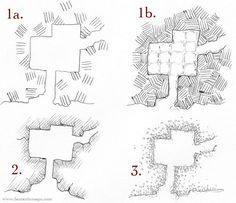 Different dungeon wall styles