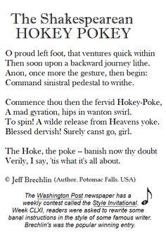 The Shakespearean Hokey Pokey