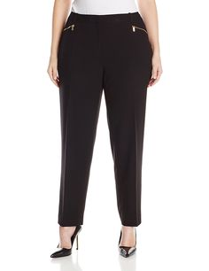 eb041e4ef9d35 Calvin Klein Women s Plus-Size Slim Suiting Pant with Zipper   This is an  Amazon