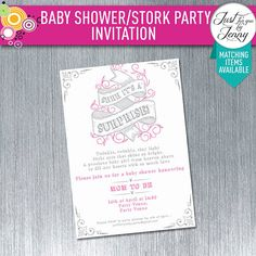 BABY SHOWER invitation | Printable | Digital by JustForYouByJenny on Etsy