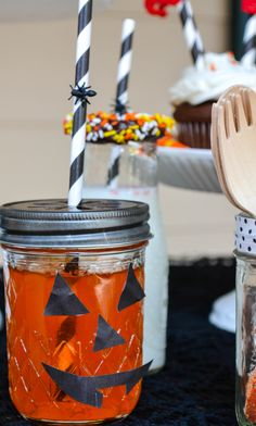 Add a face to your mason jar