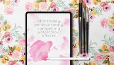 Seriously real digital watercolour for Procreate on iPad. This Watercolour Pack is the most comprehensive Procreate watercolour bundle you'll ever Watercolor Lettering, Watercolor Canvas, Watercolor Brushes, Watercolor Flowers, Watercolour, Japanese Watercolor, Traditional Paint, Smudger, School Painting