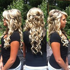easy formal hairstyles half up half down - Google Search