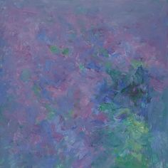 Heinrich Ilmari Rautio: Syreenit - Lilacs,  80x80 cm, Oil on canvas, 2016