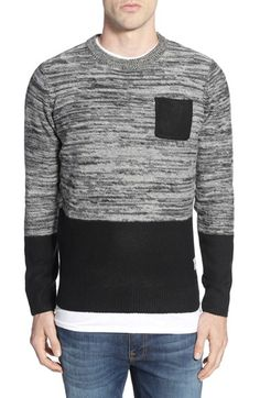 d244ee7dea18 BellField Colorblock Crewneck Sweater