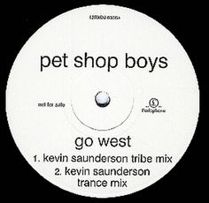 "For Sale - Pet Shop Boys Go West - 2nd DJ issue UK Promo  12"" vinyl single (12 inch record / Maxi-single) - See this and 250,000 other rare & vintage vinyl records, singles, LPs & CDs at http://eil.com"