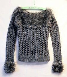Grey sweater handmade Gray knit wool jumper Pullover knitwear