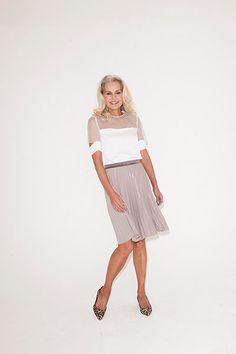 Credit: David Newby for the Guardian Michelle wears skirt, £189, marc-cain.com Top, £265, by Joseph, from net-a-porter.com Heels, £55, marksandspencer.com Stunning!