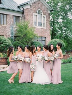 Bridesmaids are a girls best friends: http://www.stylemepretty.com/2017/02/06/40-reasons-pink-bridesmaids-will-never-get-old-in-our-book/ Photography: Jeremy Chou - http://www.jeremychou.com/