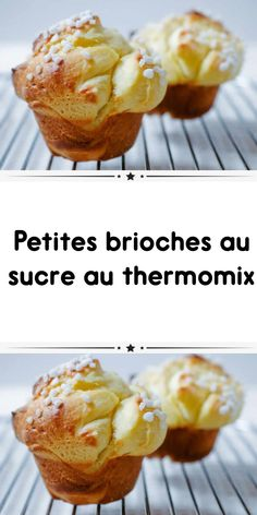 candy little buns with thermomix scrumptious mushy fondant like these of the bakery. Right here is the thermomix recipe of small buns. Croissant, Thermomix Desserts, Bread Bun, Beignets, Brunch Recipes, Biscuits, Food And Drink, Nutrition, Pasta
