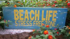 Beach lifestress free zone. by shopsolelyforyou on Etsy