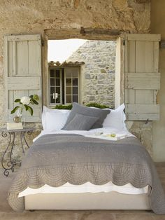 I like the idea of shutters instead of curtains.