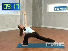 Beginner Yoga   Workout Videos by ExerciseTV - great simple yoga workout…